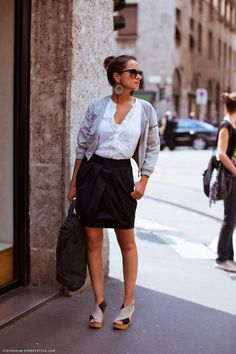 chic outfit from stockholm street style
