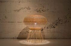 Medusa wicker lamp
