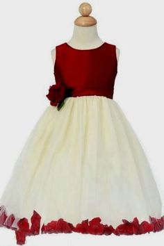 Beautiful ivory and red ball gown pleated flower girl dress flower beautiful ivory and red ball gown pleated flower girl dress flower girl dress pinterest flower girl dresses girls dresses and ball gowns mightylinksfo