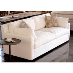 Patton sofa by Canvas Interiors White Ducks, Sofa Tables, Good House, Living Room Sofa, White Fabrics, Sofas, Cushions, Couch, Canvas