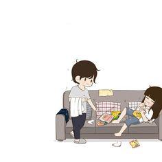 Kuch aisa hi hone wala hai. Love Cartoon Couple, Cute Couple Comics, Chibi Couple, Cute Couple Art, Anime Love Couple, Cute Anime Couples, Cartoon Pics, Cute Cartoon Wallpapers, Whatsapp Dp