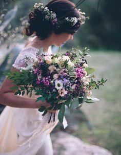 Bouquet de mariée fleurs des champs - 20 beaux bouquets de mariée pour égayer votre robe - Elle