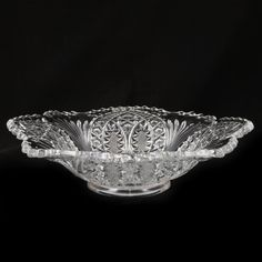 Antique EAPG Arrowhead Madora Bowl Early American Pattern Glass.