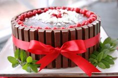 My son's favorite - chocolate covered cherries cake.  Decadent, moist and delicious!