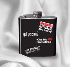 SALE Hip Flask  Retirement Flask  Retirement Gift
