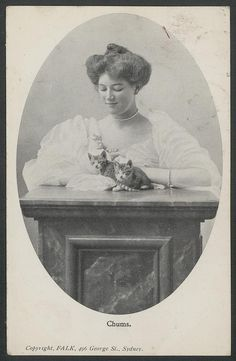 Woman and cats, 1906 by Powerhouse Museum Collection on Flickr.