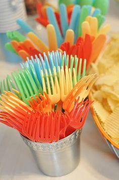 rainbow utensils