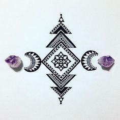Keeping it simple! Goodnight all x #draw #drawing #doodle #doodling #doodleart #mandala #pattern #design #paper #pen #artline #black #ink #tattoo #art #myart #beautiful_mandalas #boho #gypsy #hippy #hippie #inspired #sketch #amethyst #crystals