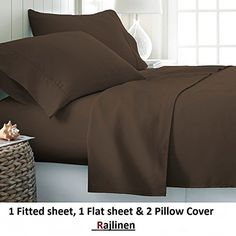 #1 Bed Sheet Set Queen Size Chocolate Solid Soft Quality Genuine 800-Thread-Count (15″ Pockets) Super Rich Egyptian Cotton by Rajlinen Searching for bedroom decoration ideas?  http://aluxurybed.com/product/1-bed-sheet-set-queen-size-chocolate-solid-soft-quality-genuine-800-thread-count-15-pockets-super-rich-egyptian-cotton-by-rajlinen/