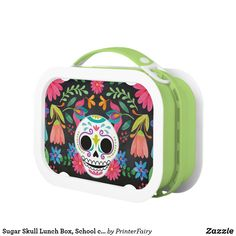 Pack your lunch with plenty of snacks into a School lunch box from Zazzle. Choose from plastic or metal lunch boxes to keep your food fresh and safe! School Lunch Box, Metal Lunch Box, Sugar Skull, Back To School, Sugar Skulls, Entering School, Back To College, Sugar Scull, Candy Skulls