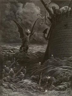 Images from Gustave Doré's illustrations to The Rime of the Ancient Mariner