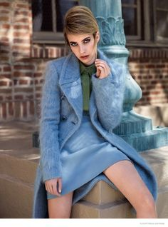 emma roberts flaunt photoshoot 2014 05 Emma Roberts Wears 60s Style for Flaunt by Stevie and Mada