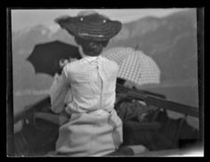 A Lady Boating Monochrome Giclee print Edition with embossed studio stamp, 68 x Sold with the original glass plate negative Previously on sale at Adam's. Boating, Giclee Print, Monochrome, Photographs, Plate, Stamp, The Originals, Studio, Kunst