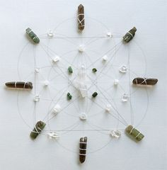 WALL ART  Feng Shui  Healing Crystal Grid  by FeatherMedicine, $162.00