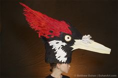 WOODY WOODPECKER RED BIRD Fancy Dress Headress Feather Hairband Costume RETRO