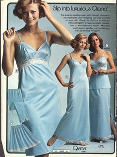 had one of that exact same floor length full slip once.  it was delish.