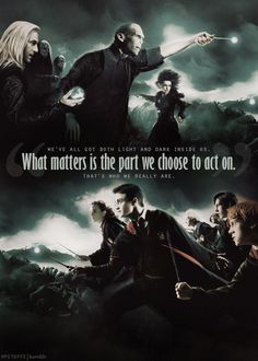 Harry asks this of his godfather, Sirius Black. Sirius tells Harry that there is good and bad in all of us. What is important is the part we choose to act on. Always Harry Potter, Harry Potter Quotes, Harry Potter Universal, Harry Potter Fandom, Harry Potter World, Hp Quotes, Book Quotes, Harry Potter Pictures, Funny Harry Potter Pics