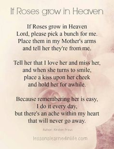 If Roses Grow In Heaven