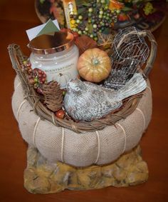 Fall/Thanksgiving Gift Basket - Basket would be perfect for hand towels, floral, snacks etc. I have one of these baskets and plan to use for Thanksgiving.....put a napkin inside and serve my dinner ro