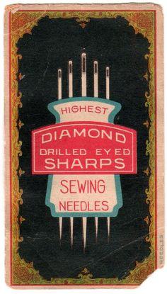 Vintage sewing needle package