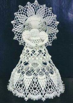 Diy Angels, Beaded Angels, Crochet Angels, Crochet Snowman, Crochet Ornaments, Angel Ornaments, Thread Crochet, Crochet Motif, Crochet Yarn