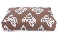 Medium Ikat Damask Dog Bed, Brown on OneKingsLane.com