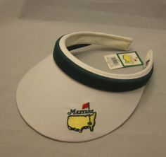 NWT Womens The Masters Augusta GA National Visor Golf White Green Undated Club #Texace #Visor