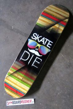 Just in time for Moustache March, we all know the popular phrase, but today's Featured Deck by Ryan Birrenbach shows it doesn't exactly have to always be aggressive, you can just be cool. See Ryan's portfolio at www.ryanbirrenbach.com. www.BoardPusher.com skate or die skateboard skateboards skateboarding sk8 art artist