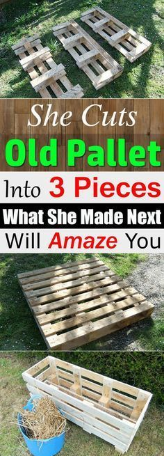This DIY pallet idea is easy to follow and you'll be amazed, with just one pallet board you can create this amazing thing. Check out! #PalletGarden