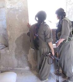 kurdish PKK-fighter against islamists,  2016.  Declared as 'terörist' from #terroristturkey.