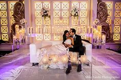 This Indian bride and groom celebrate their wedding day with a fabulous reception.