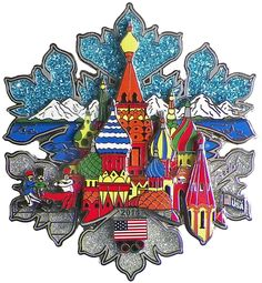 """Classic Pins - Sochi 2014 Winter Olympic Super 3-D Pin by Charles Fazzino (4"""") - Limited Production, $59.95 (http://www.classicpins.com/sochi-2014-winter-olympic-super-3-d-pin-by-charles-fazzino-4-limited-production/)"""