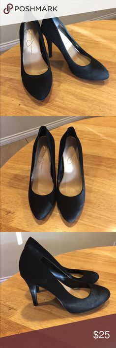 Jessica Simpson Heels Jessica Simpson Heels. Black, 4.25 inch heels. Gently used, see pictures. Price is firm. Jessica Simpson Shoes Heels