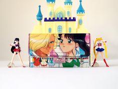 SAILOR JUPITER Tabaktasche Manga Anime Comic upcycling Unikat! Tabakbeutel, Tabaketui, Anime Sailor Moon Tasche Recycling handmade in Berlin von PauwPauw auf Etsy