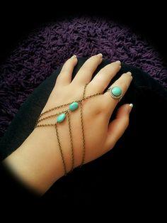 Slave Bracelet Boho Hand Bracelet Bohemian by BeUniqueJewellery, £10.84