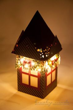 10 Paper Luminaries That Will Warm Your Heart - HomelySmart Christmas Lanterns, Christmas Decorations, Stampin Up Christmas, Christmas Crafts, Exploding Box Card, Make Your Own Card, Envelope Punch Board, Light Crafts, Homemade Crafts