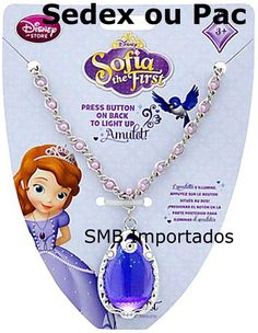 Colar Princesa Sofia Original Loja Da Disney - Em Estoque. - R$ 79,99 no MercadoLivre