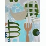 """Postprandial"" by Nancy B. Westfall, 15"" by 20"" acrylic on board, $128   Gregg Irby Fine Art"