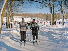 Sports d'hiver à Montréal, activités sportives d'hiver. Ski de fond, raquettes, luge, randonnée...