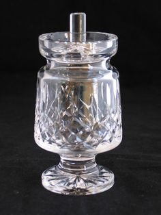 VINTAGE WATERFORD CRYSTAL IRELAND LISMORE FOOTED JELLY JAM JAR CONDIMENT