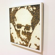Art with tobacco remains by João Leonardo