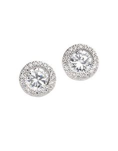 Lord & Taylor Round Earrings Women's Silver