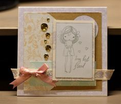 My Best Friend Card (in Quick Cards mag!)   docrafts.com