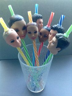 Doll Head Straws rubber plastic doll parts recycled Stupid Memes, Funny Memes, Hilarious, Images Kawaii, Recycling, Plastic Doll, 3d Prints, Doll Parts, Oui Oui