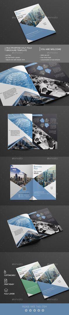 Corporate Bi-fold Brochure Template 03