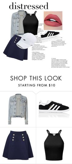 """""""Untitled #24"""" by marianovak ❤ liked on Polyvore featuring rag & bone, adidas and Tommy Hilfiger"""