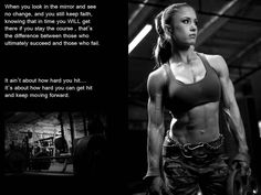 . Dont want to be as ripped as her but love the quote! Pauline Nordin!