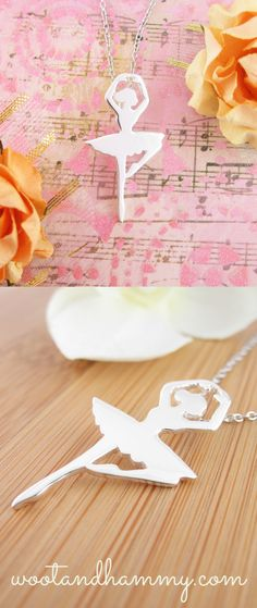 The distinctive silhouette of this ballerina's pirouette makes for an eye-catching pendant. Simply stated with a polished sterling silver finish, this is an endearing token of the faery-like world of ballet. Ballerina necklace in sterling silver. Dance Quotes, Dance Sayings, Music Themed Rooms, Tiny Dancer, Learn To Dance, Jewelry Photography, Birthday List, Clay Charms, Christmas Birthday