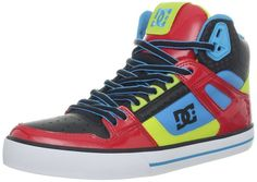DC Men's Spartan Hi WC Fashion Sneaker,Red/Blue,12 M US