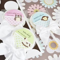 Baby+Animals+Personalized+Lollipop+Favors